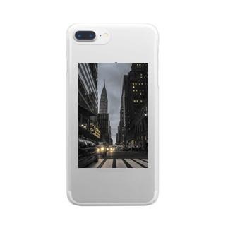 マンハッタン Clear smartphone cases