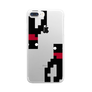 ドットてながくんDA Clear smartphone cases