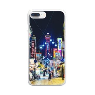 マッキーの新世界の街 Clear smartphone cases