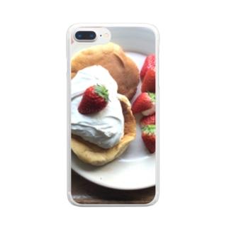 🍓パンケーキ Clear smartphone cases