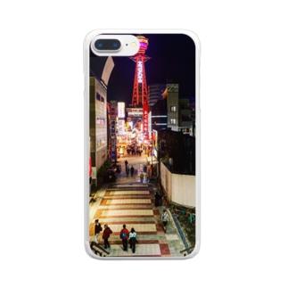 通天閣  Clear smartphone cases