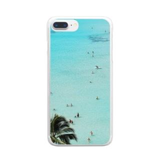 ワイキキビーチ縦 Clear smartphone cases