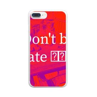 初加工グッズ Clear smartphone cases