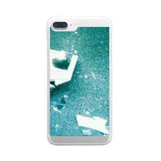 エセクレイジー Clear smartphone cases