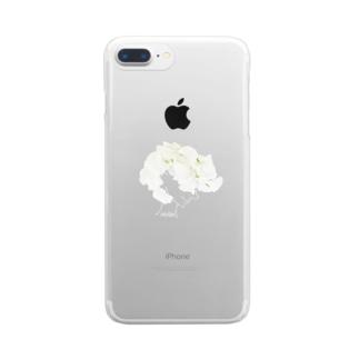 なびく Clear smartphone cases