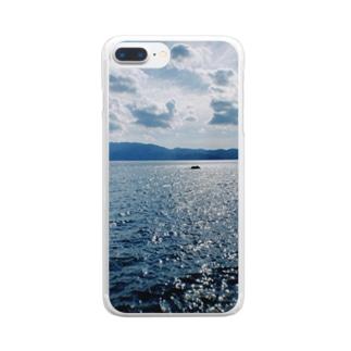 懐かしい海 Clear smartphone cases