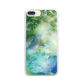 日差し Clear Smartphone Case
