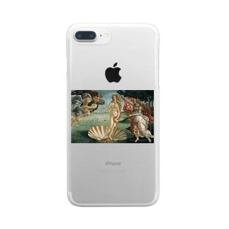 ヴィーナスの誕生 Clear smartphone cases