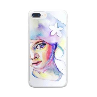 虹色少女 Clear smartphone cases