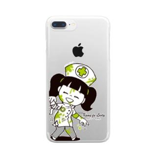 ナースゾンビ カンフーちゃん Clear smartphone cases