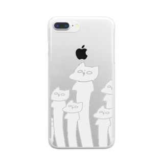 ロングロングネゴヂャンENOKI Clear Smartphone Case