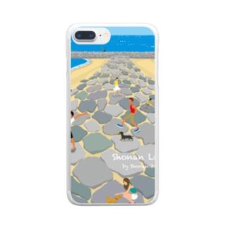 湘南ランドスケープ05:茅ケ崎ヘッドランド Clear smartphone cases