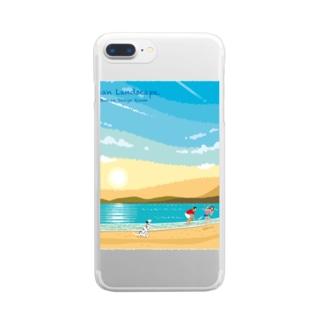 湘南ランドスケープ02:ひこうき雲 Clear smartphone cases