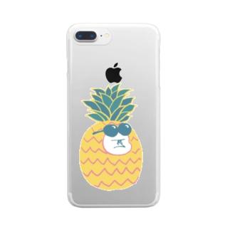 MINI BANANA パイナップルゴリラの子 Clear smartphone cases