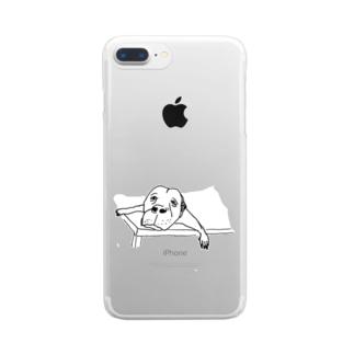 勘弁してくださ〜い Clear smartphone cases