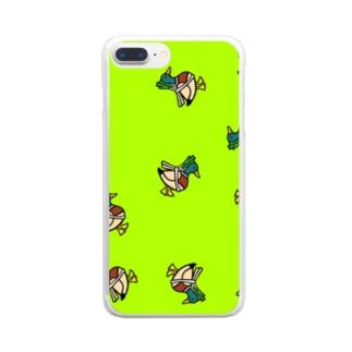 ネギを背負ったかもねぎくん Clear smartphone cases