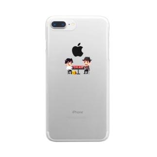 かしまくんといとうくんメインビジュアル Clear smartphone cases