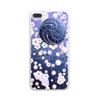 © 2008 akanbeepapaの藤巴と桜 Clear smartphone cases