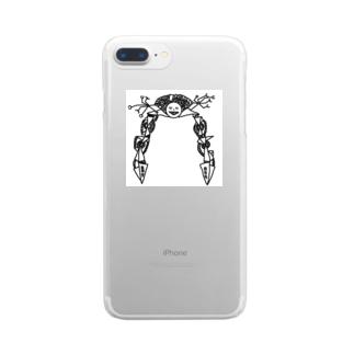 ニソクホコウ03 「脚長ノ阿修羅」 Clear smartphone cases