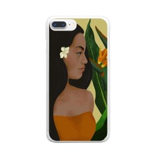 ポリネシアン in hawaii Clear smartphone cases
