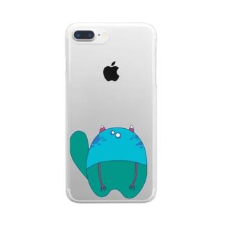 もんしゅたず01 Clear smartphone cases