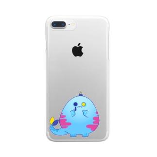 もんしゅたず03 Clear smartphone cases