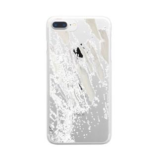 肌迹ノノ止 Clear smartphone cases