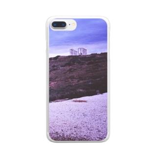 ギリシャ:スニオン岬のポセイドン神殿 Greece: Temple of the Olympian Poseidon at Cape Sounion Clear smartphone cases