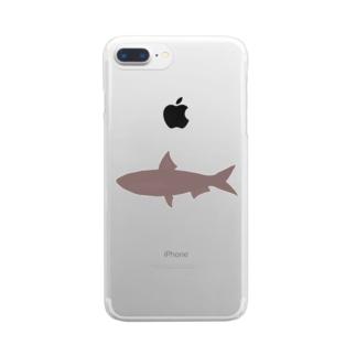 真イワシ シルエット Clear smartphone cases