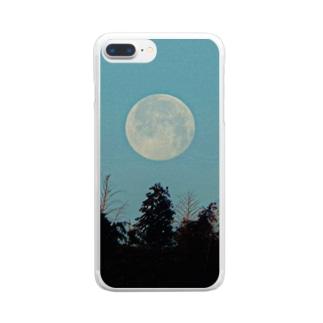 おひるのおつきさま Clear smartphone cases