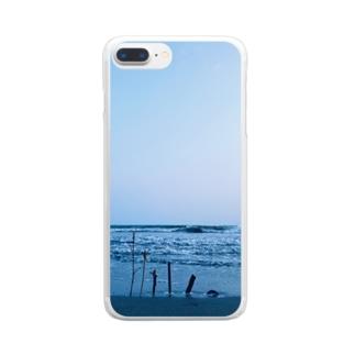 なつのおもいで Clear smartphone cases