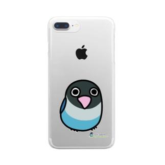 LOVEBIRD BOTAN 前向き Clear smartphone cases