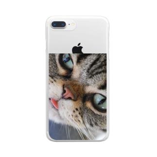 photo-tkのベロだしなずなちゃん Clear Smartphone Case