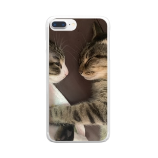 こじたんことら Clear smartphone cases