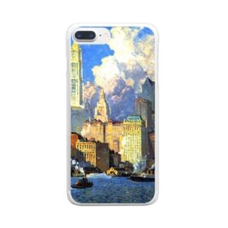 世界の絵画アートグッズのコリン・キャンベル・クーパー 《ハドソン河畔》 Clear smartphone cases