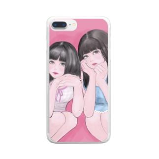 ギャラ飲みで稼ぐタイプの女子大生 Clear smartphone cases