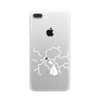 ひび割れ by アヒル Clear smartphone cases
