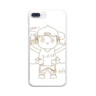 ウデアシ桃 Clear smartphone cases