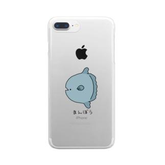 およげそうにないまんぼう Clear smartphone cases