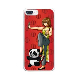 カンフーガール Clear smartphone cases