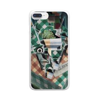 フアン・グリス 《チェックのテーブルクロスのある静物》 Clear Smartphone Case