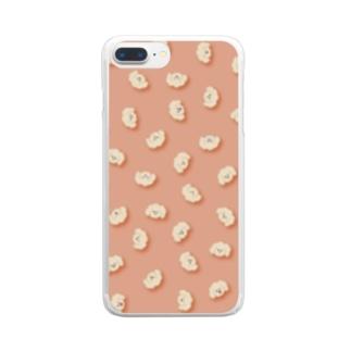 表情豊かなもふもふのいぬ Clear smartphone cases