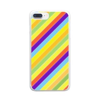 パステル Clear smartphone cases