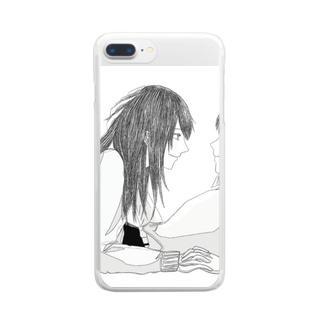 ずっと待ってたちゃん Clear smartphone cases