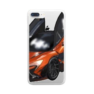 クルマのイラスト Clear smartphone cases