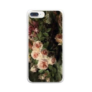 フランス・モルテルマン《バスケットのピンクの薔薇》 Clear Smartphone Case