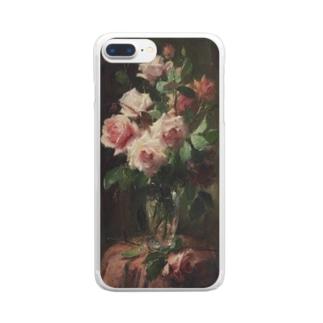 フランス・モルテルマン《ピンクのバラのブーケ》 Clear Smartphone Case