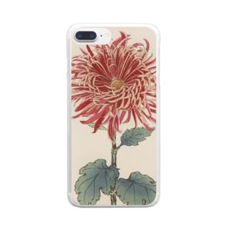 長谷川契華「紅尖」 Clear smartphone cases