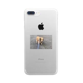 歩きたくない犬 Clear smartphone cases