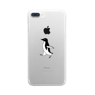 上中さとるのアデリーペンギン Clear smartphone cases
